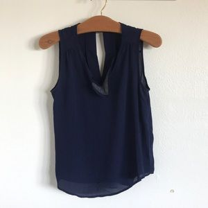 Tank top with front detailing